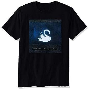 YULUYYY Men s Mazzy Star Among My Swan Fashion Relaxed T-Shirt Tee Black XX-Large