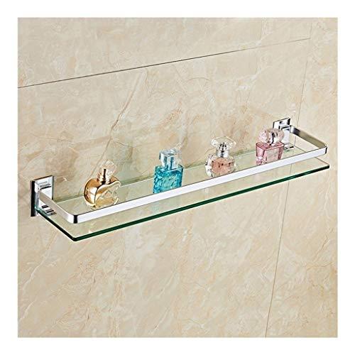 ZhanMaZW Handtuchhalter Badezimmer Corner Glasregal Wand befestigte Raum-Aluminium Ausgeglichenes...