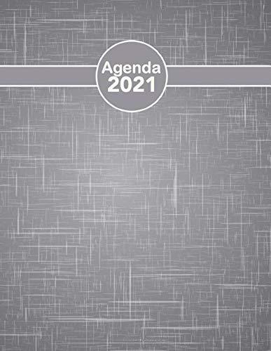 Agenda 2021 giornaliera: formato A4 pianificatore italiano, Professionale Calendario 2021, Giornaliera e Settimanale.