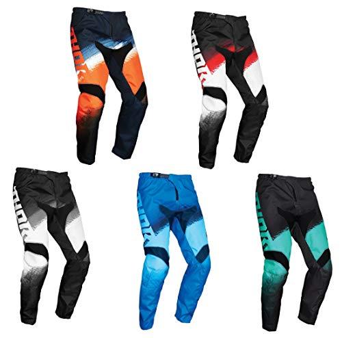 MOTORBIKE THOR SECTOR VAPOR ADULT MX RACE TROUSER New 2021 Motocross Quad Enduro MTB PIT Dirt Bike Off Road ATV MTB BMX Sports Racing Pants Trouser (Blue,L/34)