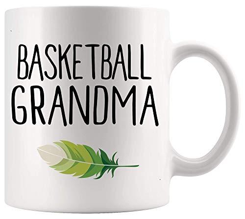 Taza Mug Taza de taza de jugador de baloncesto Linda abuela de baloncesto Abuela Gigi Día de la madre Camiseta deportiva Tazas blancas Tazas 330Ml