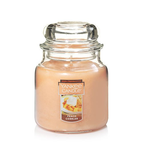 Yankee Candle Peach Cobbler Small Single Wick Tumbler Candle, Fruit Scent