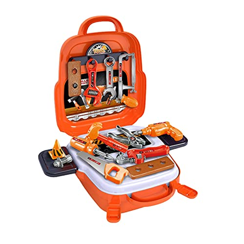 Iridescent 22PCS Tool Toy Kids Tool Set,Child Learning Tool Kit With Storage Case Bag, For 3+ Years Boys Girls To Role Play And Simulated Repair Work