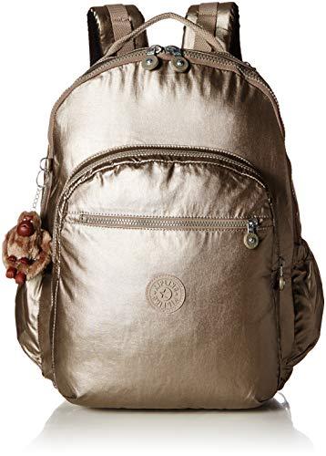 Kipling Women's Seoul Go XL, Padded, Adustable Backpack Straps, Zip Closure, Metallic Pewter
