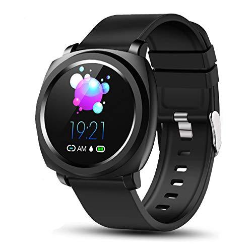 COOLEAD Smartwatch Reloj Inteligente Bluetooth, Pulsera de actividad Inteligente unisex con Monitor de Presión Arterial, Rastreador de Ejercicios y Podómetro de Calorías, para Android y iOS