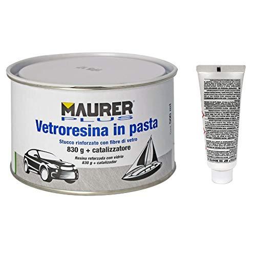 MAURER 14075020 Masilla Fibra Vidrio 500 ml. (con Endurecedor)
