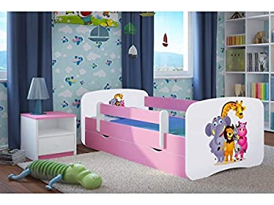 Pink Toddler Girl Bed Kids Bed Princess Horse Children's Single Bed with Mattress and Storage Included - Baby Dreams