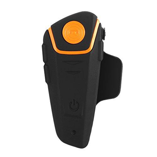 Docooler BT-S2 Casco de Motocicleta BT walkie-Talkie, walkie-Talkie inalámbrico con Auriculares, walkie-Talkie Remoto Manos Libres FM Impermeable 1000M con Auriculares, con micrófono,