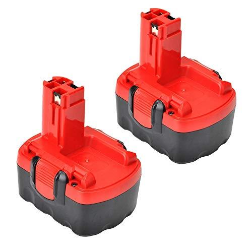 VANTTECH 2Stück 14,4 V 3,0 Ah Ni-MH Ersatz für Bosch Akku BAT038 BAT040 BAT041 BAT140 BAT159 13614 13614-2G 15614 1661 22614 32614 PSB14.4 2607335533 2607335275 2607335685 für Bosch Akkus