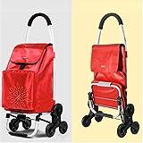 ZUOAO 60L Peso Ligero de 6 Ruedas Carrito de la Compra-Impermeable Bolsa fácil de Llevar Aislamiento Comercial y Doblar, fácil de almacenar,Red