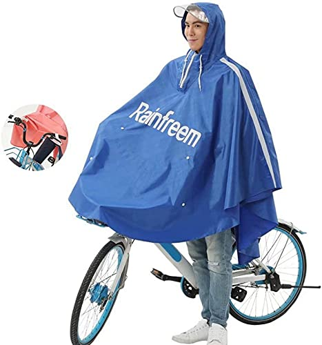 Moto Poncho Alargado Impermeable, Impermeable Scooter de Movilidad eléctrica Capa de Lluvia Grande para Motocicleta, para una Sola Persona Motociclismo Funda Impermeable antivaho con Capucha