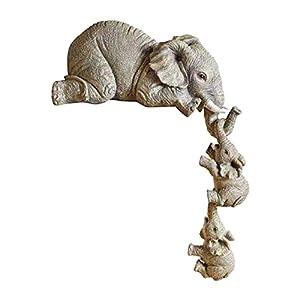 Estatua de elefante, 3 piezas, de resina, para casa, oficina, representantes del amor y la familia, decoración de casa dulce elephant decor