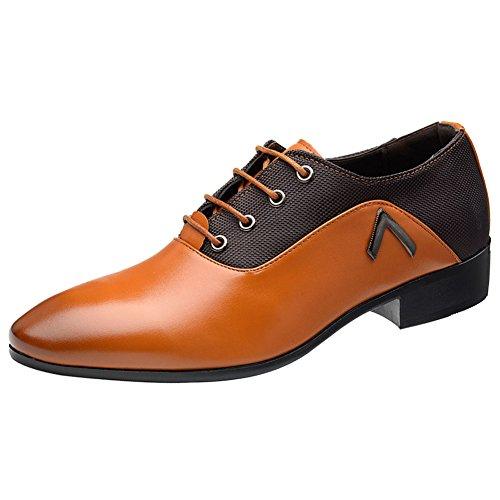 Wealsex Zapatos Oxford Hombre Boda Negocios Calzado Vestir Cordones Derby Zapatos de...