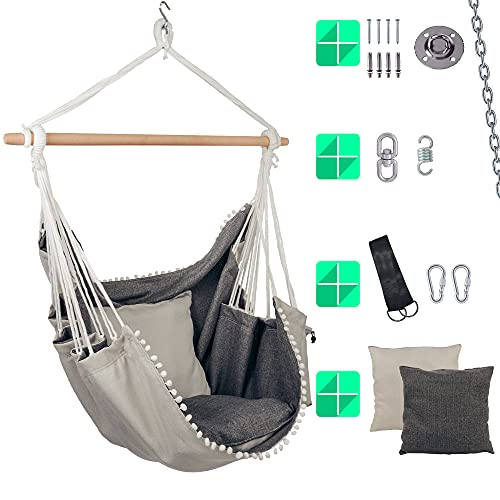 ChairLing Hängesessel Set inkl. Befestigungszubehör/Indoor Schaukel für Kinder & Erwachsene/Hänge Schaukel ideal zum Entspannen & Wohlfühlen/perfekte Alternative zur Hängematte
