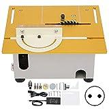 Sega da tavolo Mini sega da tavolo compatta Utensile da taglio da tavolo multifunzionale per la lavorazione del legno fai-da-te AC110V-220V 96W((Regolamenti UE))