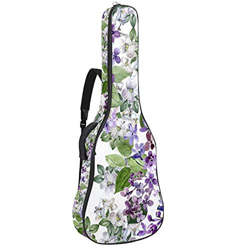 Bolsa de guitarra acústica con acolchado grueso impermeable, doble correa ajustable para el hombro para guitarra, bolsa de concierto, hermosa lila 42,8 x 42,8 x 11,9 cm