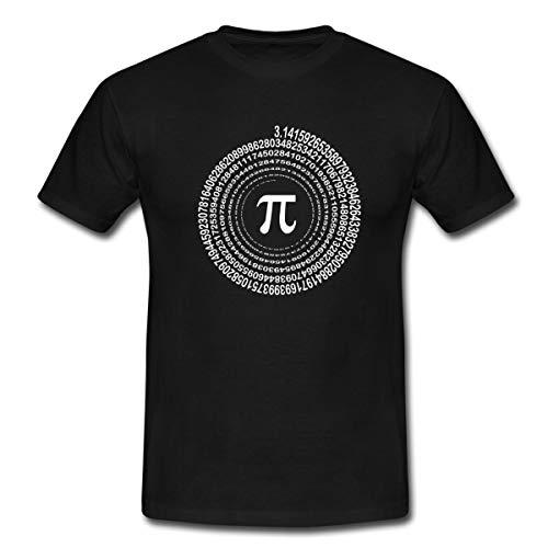Pi Spirale Männer T-Shirt, XXL, Schwarz