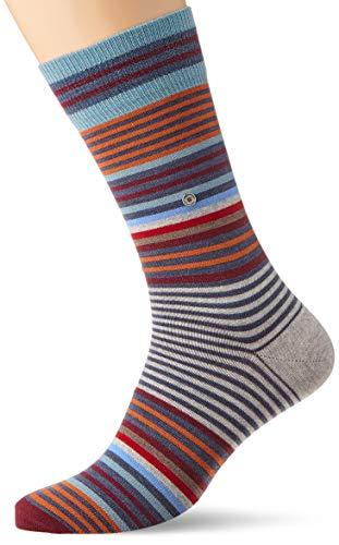BURLINGTON Herren Socken Stripe - Schurwollmischung, 1 Paar, Blau (Dark Blue Melange 6688), Größe: 40-46