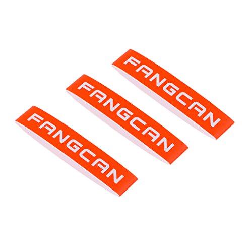 F Fityle 3pcs Durable Tenis Squash Bádminton Raqueta Cinta Banda Cabeza Protector Protector - Naranja