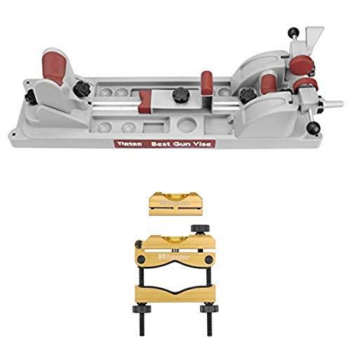 Tipton Best Gun Vise for Cleaning, Gunsmithing and Gun Maintenance and Wheeler Engineering Professional Reticle Leveling System