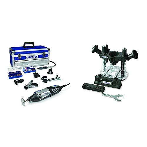 Dremel Platinum Edition 4000-6/128 - Multiherramienta (175 W, 6 complementos, 128 accesorios) + Dremel - Complemento para fresar por inmersión (335)