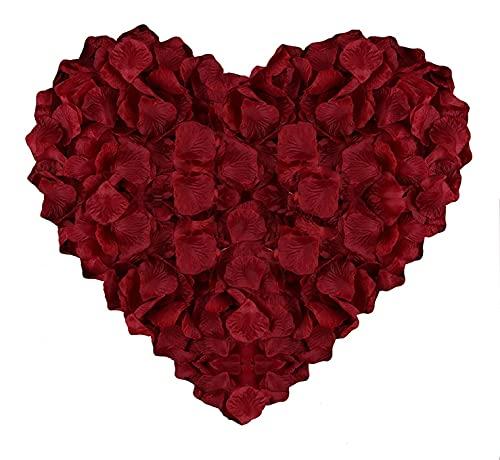 huaao 3000pcs Pétalos de Rosa Rojos Artificiales de Seda Decoración Romántico para...