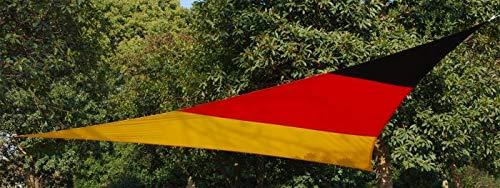 Kookaburra Wasserfest Gewebtes Sonnensegel Sonnenschutz Garten Terrasse Balkon 98% UV-Block (5,0m Dreieck, Deutsche Fahne)
