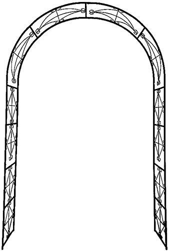 Arco de Rosas 140x230,180x220,200x230,240x220,286x220cm Arco Enrejado para Rosas y Plantas Trepadoras Decoraci/ón de Jard/ín Arcos Decorativos SYLJ Arco de Hierro para Plantas