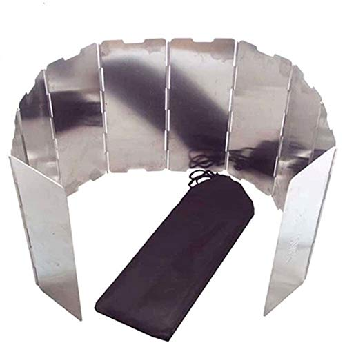 Edward Jackson 10 Teller faltbares Outdoor-Camping-Kochen Herd Gasherd Aluminiumlegierung Wind Screens Windschutzscheibe Camp Kaminöfen Gas-Ofen Ofen
