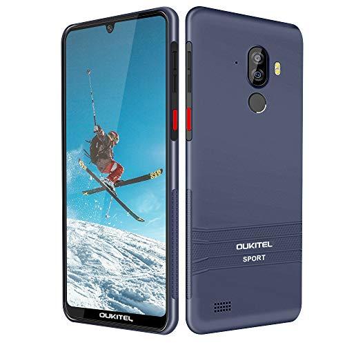 Smartphone para Exteriores, OUKITEL Y1000 Smartphone Resistente al Agua 6.0 Pulgadas Android 9.0 Dual SIM IP68 Resistente Al Polvo Resistente, 3600mAh Batería 3 Cámaras 32GB ROM, Puce