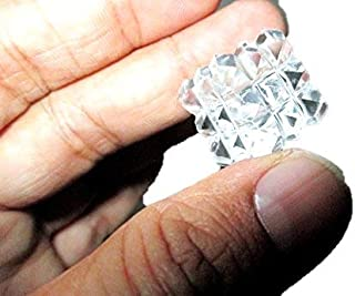 Jet Pyramid Cube 54 Crystal Quartz Hexahedron Sacred Geometry Manifestation Healing Top Grade Free Booklet Crystal Therapy IMAGE IS JUST A REFERENCE.