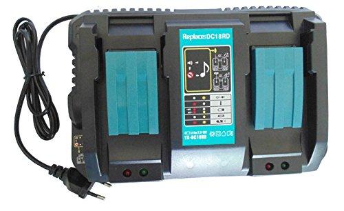 4A DC18RD Dual Port vervangen Makita oplader dubbele oplader snellader voor 14.4V-18V 110 V~240V Makita Liion accu BL1815 BL1820 BL1830 BL1840 BL1840B BL1850B BL1860 BL1430 BL1440