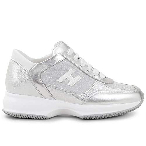 Hogan dames sneaker Interactive zilver van leer en stof - HXW00N0BH50 MYX8844 - maat