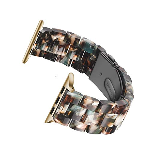 ZLRFCOK Correa de resina para Apple Watch 44mm banda para iwatch 42mm Series 6 5 4 3 2 1 reloj de pulsera Accesorios bucle 38mm pulsera reemplazo 40mm correa de reloj