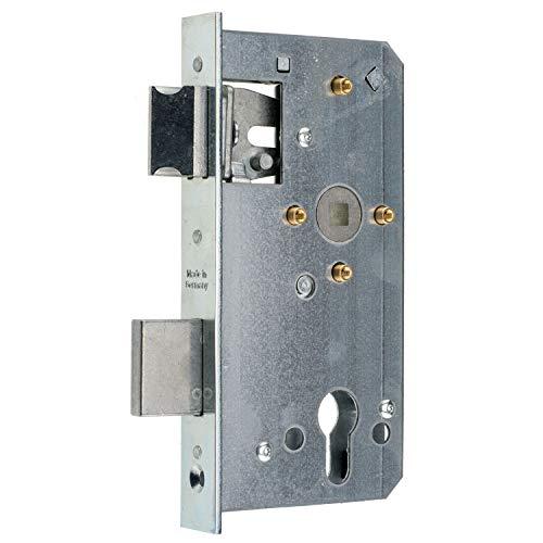 Einsteckschloss für Metalltore PZ/W 72/55/8 (Stulp 24x179, 4 Hülsen)