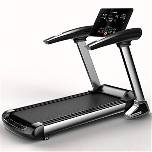 Laufende Maschine Startseite Laufband HD-Bildschirm elektrische Laufband Bluetooth Folding Treadmill Running Training Indoor Sports (Farbe : Schwarz, Größe : Einheitsgröße)