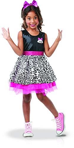 Rubie's, costume ufficiale Rubie's, travestimento da Lol Diva + cerchietto roso per bambine, taglia M-I-300146M