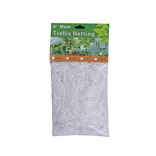 VELIHOME Rede de treliça, rede de treliça de plantas, rede de treliça flexível, suporte de plantas de poliéster resistente para plantas de treliça de videira para escalada, barbante de jardim, vinhas de vegetais e plantas de jardim, trepadeiras