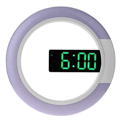 N A Wanduhr, LED-Anzeige Thermometer Digital-Wecker Multifunktions-12/24 Stunden-Uhr, Geeignet for Home Office Hotels Kinderzimmer (Farbe : Grün)