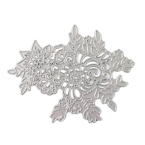 Abcidubxc Plantillas de corte de metal para manualidades, diseño de flores