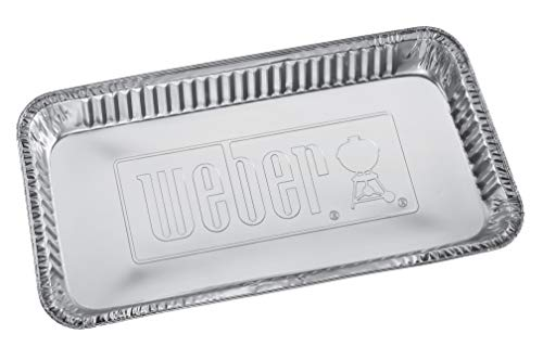5 barquettes en aluminium Weber - Pour barbecue à charbon 57cm