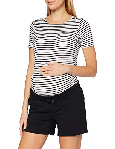 SUPERMOM Short Pantalones Cortos premamá, Negro (Black P090), 38 (Talla del Fabricante: Small) para Mujer
