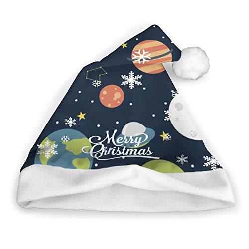 Cartoon Space Rocket Planet Astronaut Santa Hat Sombreros Navideos Gorros Navideos Liner Tocado Decoracin De Fiesta Disfraz De Cosplay Clsico Maquillaje Sombreros Suaves Hechos A Mano Cabello 12X1