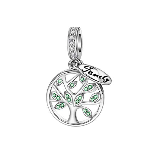 "DALARAN Baum des Lebens Charme Sterling Silber Familie Charm für Pandora Charms ""MEHRWEG"""