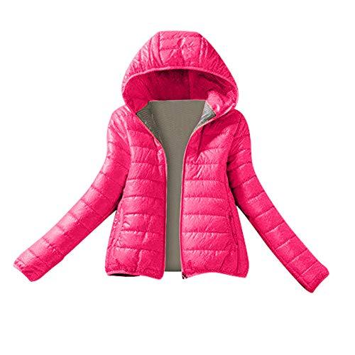 ❆LANSKIRT Winterjacke Damen, Übergangs-Jacke Steppjacke EIN und Alles (Vegan Hergestellt) 6 Farben M-XXL (XXL, ❆Rosen rot)