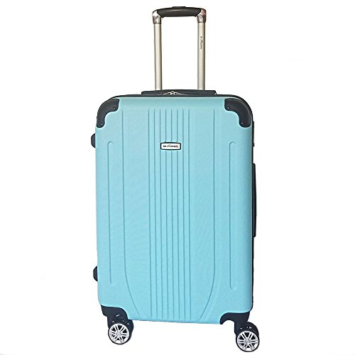 スーツケース 軽量 ファスナー TSAロック搭載 大型 中型 小型 機内持込み flower fairy (大型、L, スカイミント)