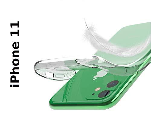 PfX Transparente Hülle geeignet für iPhone 11 Special-Edition TPU Silikonhülle mit integriertem Staubschutz Ultra-Slim