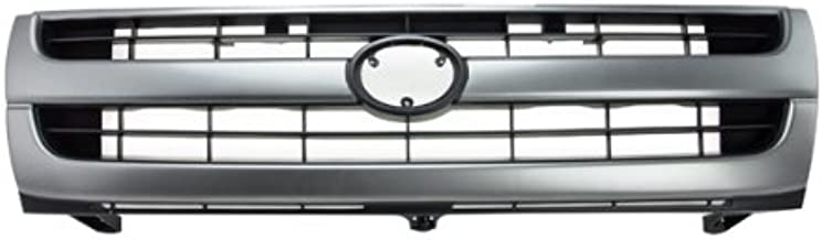 CarPartsDepot, 2Wd Front Grill Grille w/o Color-Keyed Package Assembly Silver/Black, 400-44314-SB?TO1200204?5310004060