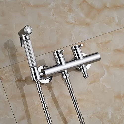 Ducha de baño Sistema de Ducha Acabado Cromado Latón Shattaf Inodoro Bidet Spray Bidé portátil Ducha Lavadora Grifos