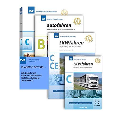 LKW Führerschein ( Klasse C, C1, CE, C1E ) PRÜFUNGS-SET XXL 2019 Fragebogen, Lehrbuch, Top Aktuell, super Geschenk Set !